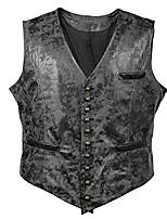 cheap -victorian vagabond steampunk gothic retro wind leather cowboy jacket men's vest (m, black)