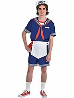 cheap -stranger things steve scoops ahoy halloween costume for men, standard (jacket 40-42) includes accessories