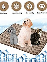 cheap -dog cooling mat pet cooling pads dogs & cats pet cooling blanket for outdoor car seats beds (22in28in, coffee)