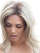 cheap -Synthetic Wig Curly Middle Part Wig Long Light Blonde Blonde Synthetic Hair Women's Fashionable Design Ombre Hair Exquisite Blonde