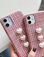 cheap -Case For iPhone 11 Shockproof Back Cover Solid Heart / 3D Cartoon TPU For Case 7/8/7P/8P/X/XS/XS MAX/SE 2020/11 PRO/11PRO MAX