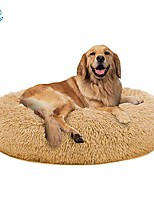 """cheap -calming dog bed cat bed donut, faux fur pet bed self-warming donut cuddler, comfortable round plush dog beds for large medium dogs and cats (24""""/32""""/36"""")"""