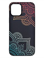 cheap -Case For iPhone 12 Pro Max Frosted Pattern Back Cover Flower TPU Soft iPhone 12 Mini 11 Pro SE 2020 XR XS Max 7 8 Plus