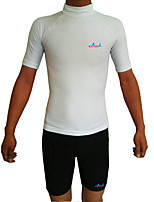 cheap -Bluedive Men's Rash Guard Sun Shirt Breathable Quick Dry Stretchy Short Sleeve Swimming Surfing Water Sports Solid Colored Summer / UPF50+