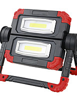 cheap -QQ-WL0312 USB LED Light Handheld Flashlights / Torch 850 lm LED 2 Emitters Portable LED Easy Carrying Durable Camping / Hiking / Caving Everyday Use Yellow Red Grey