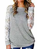 cheap -women's leopard pocket pullover tops autumn blouses long sleeves t shirt v neck leopard basic tee (2 grey, 4xl)