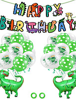 cheap -Party Balloons 23 pcs Jurassic Dinosaur Happy Birthday Party Supplies Latex Balloons Banner Boys and Girls Party Birthday Decoration 12 Inch for Party Favors Supplies or Home Decoration