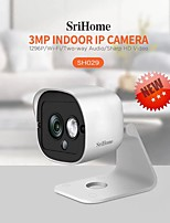 cheap -Sricam SH029 3.0MP Mini IP Camera Waterproof WIFI Camera Smart Home Night Vision Baby Monitor Mobile Remote Human Tracking Alarm