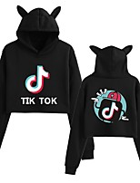 cheap -Inspired by Cosplay Hoodie Polyster Top For Women's