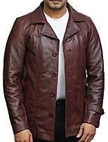 cheap -mens italian lamb skin genuine leather blazer jacket bnwt (medium, tan)