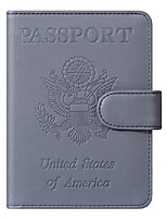 cheap -passport holder cover wallet case for women men rfid blocking leather travel wallets travel accessories (grey)