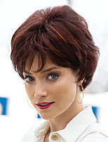 cheap -Synthetic Wig kinky Straight Pixie Cut Wig Short Brown Synthetic Hair Women's Fashionable Design Exquisite Romantic Brown