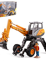 cheap -Alloy Excavator Toy Truck Construction Vehicle Transport Car Toy Simulation Music & Light All Adults Kids Car Toys