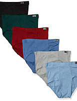 cheap -men's 6-pack tagless no ride up briefs with comfortsoft waistband (colors may vary), assorted, small