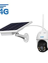 Недорогие -escam qf330 1080p pt 4g pir-сигнализация ip-камера с солнечной панелью полноцветное ночное видение двухстороннее аудио версия ip66 eu с батареей