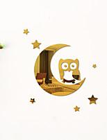 cheap -Cartoons Owl / Star Moon Shapes Wall Stickers Mirror Wall Stickers Decorative Wall Stickers, Acrylic Home Decoration Wall Decal Wall Decoration 1pc