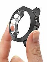 cheap -compatible with garmin fenix 5x/5xplus/5x sapphire case, tpu plated protective case protector for 51mm fenix 5x watch case (black)