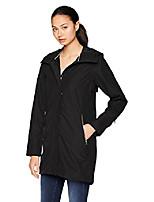 cheap -helly hansen women's laurel 3/4 length hooded waterproof windproof breathable rain coat jacket, 990 black, x-large
