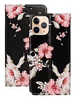 cheap -Case For Apple iPhone 12 Pro Max  Wallet Card Holder with Stand Full Body Cases Flower PU Leather iPhone 12 Mini SE 2020 11 Pro XR XS Max X 7 8 Plus