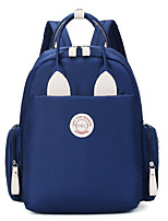cheap -Women's Oxford Cloth School Bag Commuter Backpack Large Capacity Waterproof Zipper Solid Color Professioanl Use Outdoor Black Blushing Pink Sky Blue Dark Blue