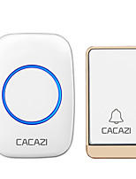 cheap -CACAZI No battery Ruquired Wireless Waterproof Doorbell LED light  Self-powered Home door bell
