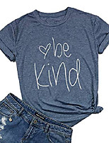 cheap -womens be kind t shirt summer letter print short sleeve loose tops inspirational graphic tees