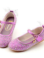 cheap -Girls' Flats Comfort / Flower Girl Shoes / Princess Shoes Patent Leather / PU Little Kids(4-7ys) Walking Shoes Rhinestone / Bowknot Purple / Champagne / Silver Spring / Fall / Party & Evening