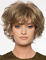 cheap -Synthetic Wig Curly Asymmetrical Wig Short Light Brown Dark Brown sepia Synthetic Hair Women's Fashionable Design Exquisite Dark Brown Light Brown