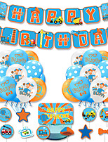 cheap -Party Balloons 34 pcs Truck Happy Birthday Party Supplies Latex Balloons Banner Boys and Girls Party Birthday Decoration 12 Inch for Party Favors Supplies or Home Decoration