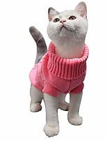 cheap -pet clothing winter dog clothes warm pet cat sweater jacket coat for small dogs (xs, pink)
