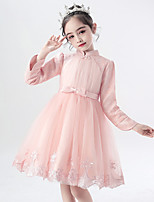 cheap -Princess Cosplay Costume Masquerade Girls' Movie Cosplay A-Line Slip Halloween Pink Dress Halloween Children's Day Masquerade Polyester Organza