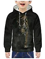 cheap -Kids Boys' Active 3D Tiger Print Long Sleeve Hoodie & Sweatshirt Black
