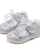 cheap -toddler girls rhinestone shoes silver 11.5 mary wedding party princess dress flat