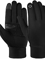 cheap -vbiger reflective sports gloves full finger winter gloves touch screen function warm running gloves with palm pocket design