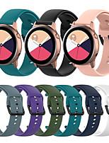 Недорогие -Ремешок для часов для Samsung Galaxy Active / Samsung Galaxy Watch Active 2 / Часы Galaxy active 3 Samsung Galaxy Спортивный ремешок силиконовый Повязка на запястье