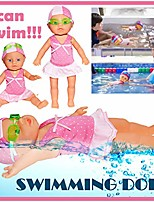 cheap -electric swimming baby doll - poseable waterproof pool bath water fun interactive play - gift educational toy for kids girls - beach bathtub game friend - mini people figures (pink 3)