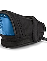 cheap -lightbrite bicycle seat pack, black with blue reflective, medium