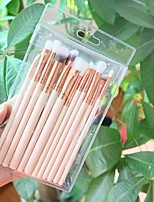 cheap -12 Pcs makeup brush set cosmetic brushes wooden poles champagne color cosmetic brushes beige cosmetic appliances