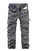 cheap -Men's Hiking Pants Trousers Hiking Cargo Pants Solid Color Summer Outdoor Breathable Ventilation Soft Comfortable Cotton Pants / Trousers Black Army Green Grey Khaki Green Hunting Fishing Climbing 28