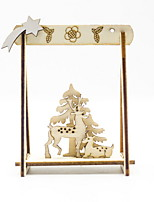 cheap -Christmas Wooden Ornaments Creative Christmas Desktop Ornaments Three-dimensional Hollow Christmas Ornaments