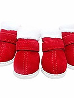 cheap -puppy dog shoes red snow boots puppy dog shoes pet warm shoes anti-slip thicken puppy booties for puppy dogs chihuahua 4pcs (xs)