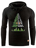 cheap -mens christmas hoodie sweatshirts winter casual solid color pullover hoodie top blouse black