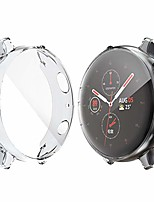 cheap -compatible for galaxy watch active 2 screen protector 40mm,all-around tpu anti-scratch case soft protective bumper cover for samsung galaxy watch active 2 smartwatch(clear+clear)