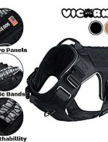 cheap -tactical dog harness, dog vest harness, for large and medium dogs, with no pull handle, leash clip, molle system for heavy duty, for walking, hiking, hunting, black
