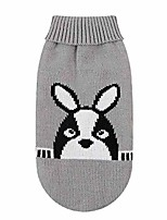 cheap -knitted dog sweater chihuahua clothes winter knitwear warm sweater coat pet puppy jumper gray