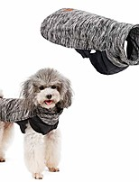 cheap -dog winter coat waterproof reversible clothes small medium large dog jacket winter fleece warm windproof cold weather autumn vest apparel with harness (xl neck girth: 21.25in, grey)