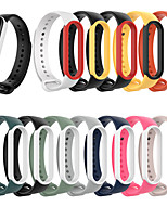 cheap -Bracelet Trap For Xiaomi Mi Band 5 / Band 5  NFC Silicone Pink Replacement Wristband Bracelet Watchband For Xiaomi Mi Band 5 Replacement 3pcs