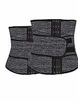 cheap -waist trainer xs-5xl waist trainer men slim waist belts tummy body shaper corset slimming underwear neoprene shapewear strap plus size (color : grey 2 pices, size : 5xl)