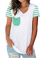 cheap -women short sleeve t shirts v neck basic tops summer lightweight tee