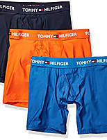 cheap -men's underwear everyday micro multipack boxer briefs, flame (multi 3 pack), m